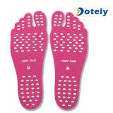 Almofada protetora impermeável do pé das peúgas do Insole rígido invisível unisex do pé da praia