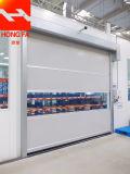 Línea de Producción Industrial de deslizantes personalizadas enrollar Puerta de seguridad de la puerta de alta velocidad