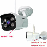 720p HD 1.0MP cámara IP WiFi exterior Micrófono incorporado ranura para tarjetas SD