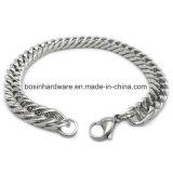 Braccialetto Chain del bordo smussato polacco dell'acciaio inossidabile della metallina