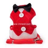 Großhandelschina-Haustier-Produkt-rote Hundeverdrahtung mit Hundeleine