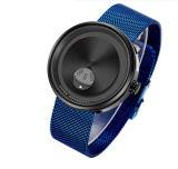 La moda Mens relojes de pulsera de cuarzo de la placa de girar el dial