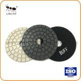 4 Polegada Diamond Buff pastilhas, almofadas de polir Branco/Preto