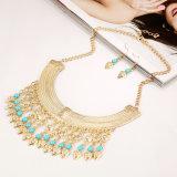 Ожерелье ювелирных изделий формы золотой монетки привесное, ожерелье перлы способа