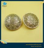 Logotipo personalizado metal hueco coser los botones de moda mango de oro