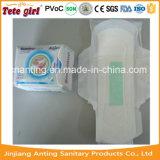 Garniture ultra mince de serviette hygiénique de serviette hygiénique d'anion de puce de charbon actif