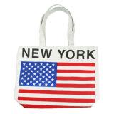 Sacchetto di promozione dell'imballaggio dell'elemento portante di acquisto della tela di canapa delle borse delle signore
