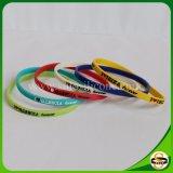 Bracelets de silicones de logo personnalisés par silicones purs de 100% pour le cadeau de Noël