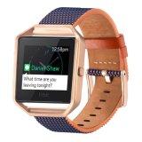 Pulsera de cuero auténtico de la banda de sustitución de la correa de Fitbit Blaze Fitness inteligente ver