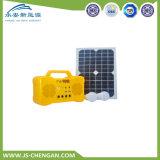 Sistema de energia solar do painel do picovolt do jogo com o USB do MP3 do rádio