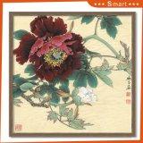 Caliente la venta de flores de estilo chino pintura al óleo para la decoración del hogar