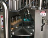 Tipo giratório máquina de enchimento da selagem do copo plástico
