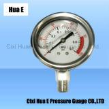 63mmの液体Fillableのステンレス鋼の圧力計