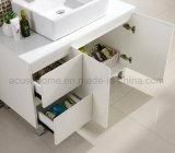 床-取付けられた現代様式の白い合板の浴室の虚栄心(ACS1-L67)