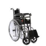 يطوي ألومنيوم كرسيّ ذو عجلات يدويّة لأنّ مريض