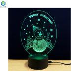 3D 크리스마스 LED 가벼운 테이블 밤 램프