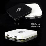 Téléphone mobile portable Qi chargeur sans fil avec deux ports USB