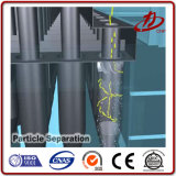 Separador ciclónico de la eliminación del polvo y de la filtración del aire para el funcionamiento de madera