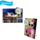 La personalidad de MDF personalizada en blanco el marco de fotos de reloj de escritorio para el bricolaje la impresión de fotos