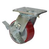 Heißer Verkaufs-Hochleistungsgummi auf Eisen-Kern-Fußrollen-Rad mit seitlicher Bremse, 4 '' 5 '' 6 '' 8 ''