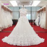 Модное роскошное платье венчания с Applique 3D цветет Bridal мантия