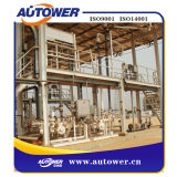 Carregamento superior dos produtos petroquímicas que descarrega a fábrica montada patim