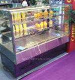슈퍼마켓을%s 2개의 선반 케이크 전시 냉각기 진열장을 냉각하는 고속