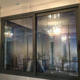 Окно двойных следов алюминиевое сползая с разнообразным алюминиевым цветом профиля