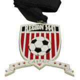 Medalla de oro de encargo al por mayor del deporte con el grabado de la insignia 3D
