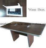 長方形の会議の席の事務机の木製のオフィス用家具の会合表
