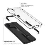明るい光のAppleのiPhone Xのための細く適用範囲が広いバンパーTPUのゴム製スクラッチ抵抗力がある保護箱カバー