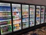 3배 윤이 난 문, 슈퍼마켓 냉각 장비를 가진 Mutlideck 전시 냉각기