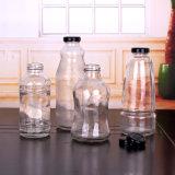 واضحة زجاجيّة شراب زجاجة مع معدن أغطية