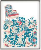 إنطباع نوع خيش ملصقات جدار فنية صورة زيتيّة مع إطار خشبيّة
