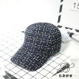 Sombrero blanco/negro de la manera de las lanas de la gorra de béisbol del invierno