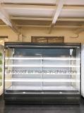 이동식 선반을%s 가진 슈퍼마켓에 의하여 냉장되는 열려있는 진열장
