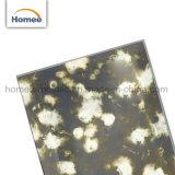 Il mosaico di vetro Backsplash dello specchio cinese copre di tegoli le mattonelle antiche nere di vetro dello specchio