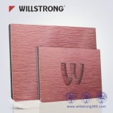 Material compuesto de aluminio de color de visualización del panel de encargo durable del soporte