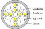 L'intérieur de 4 paires de câble UTP CAT5e 24AWG CCA/cuivre