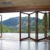 Porte Bi-Se pliante en verre en aluminium pour le patio