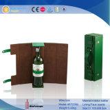 Contenitore di regalo impaccante di cuoio della scatola pieghevole della bottiglia di vino (5727)
