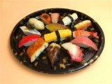 뚜껑을%s 가진 처분할 수 있는 중국 Restaurante 음식 패킹 초밥 서비스 쟁반 상자