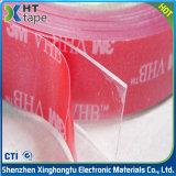 Nastro adesivo a doppia faccia della gomma piuma trasparente resistente a temperatura elevata di 3m