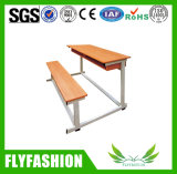 Escritorio y silla de madera durables (SF-31D) de la escuela de la talla del doble estándar