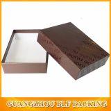 点のリボンが付いている紫外線ロゴのペーパーギフトの板紙箱は卸しで曲がる(BLF-GB485)