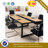 Tableau de conférence de bureau en bois de bureau de patte carrée en métal (UL-MFC249)