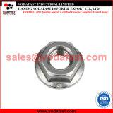 La norme DIN 6923 Geomet finis en acier de l'écrou à embase hexagonale de