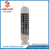 30pcs recargables LED de luz de emergencia con la radio