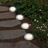 Resistente al agua de acero inoxidable de 3 LED Iluminación decorativa de jardinería paisajística enterrado Solar lámpara de luz de tierra
