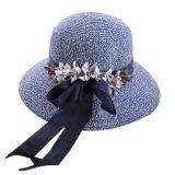 De façon personnalisée Mesdames Hat le capuchon de loisirs du chapeau de paille